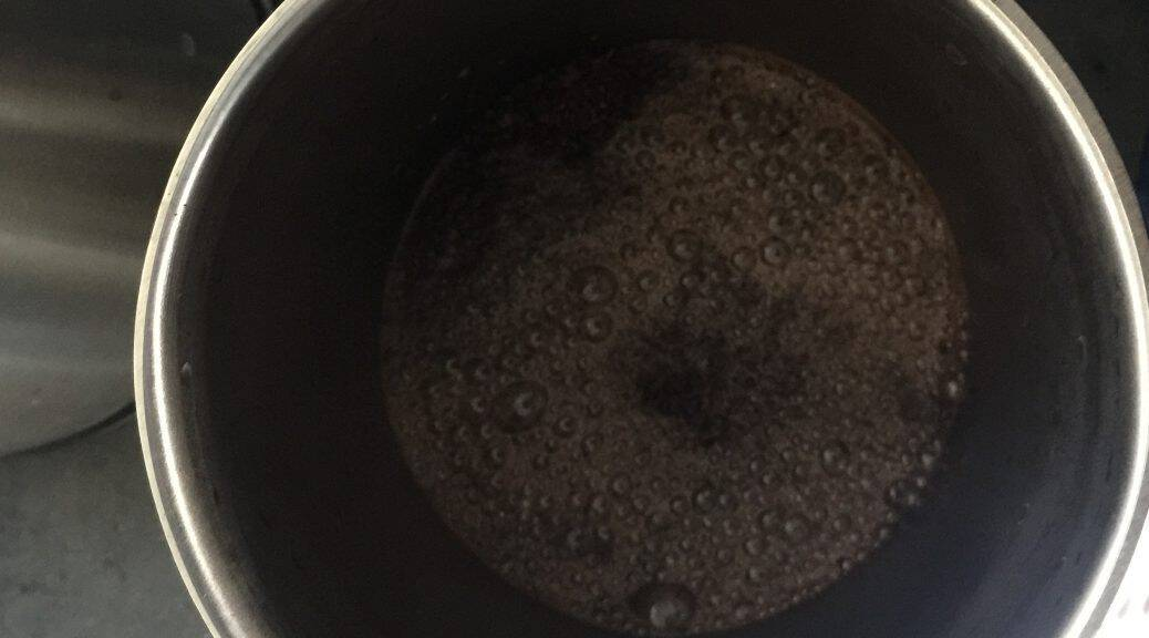 CO2 bubbling out of coffee
