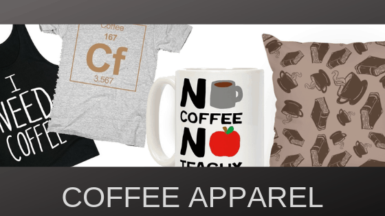 Eventually this will be Procaffeination logo wear, but for now, all sorts of coffee themed items.