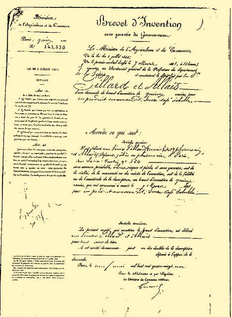 Alphonse Allais French Patent