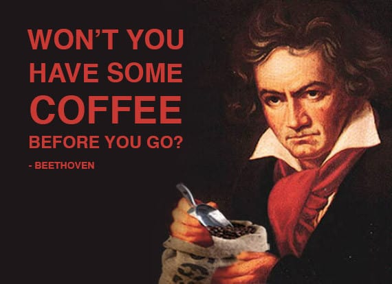 Beethoven with coffee