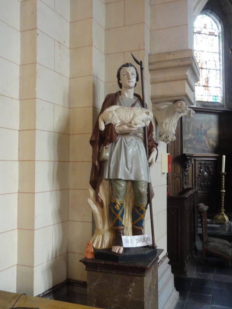 Statue of Saint Drogo of Sebourg France