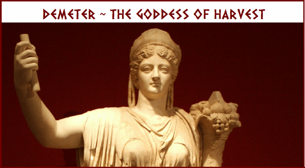 marble statue of Demeter, the Greek goddess of the the Harvest