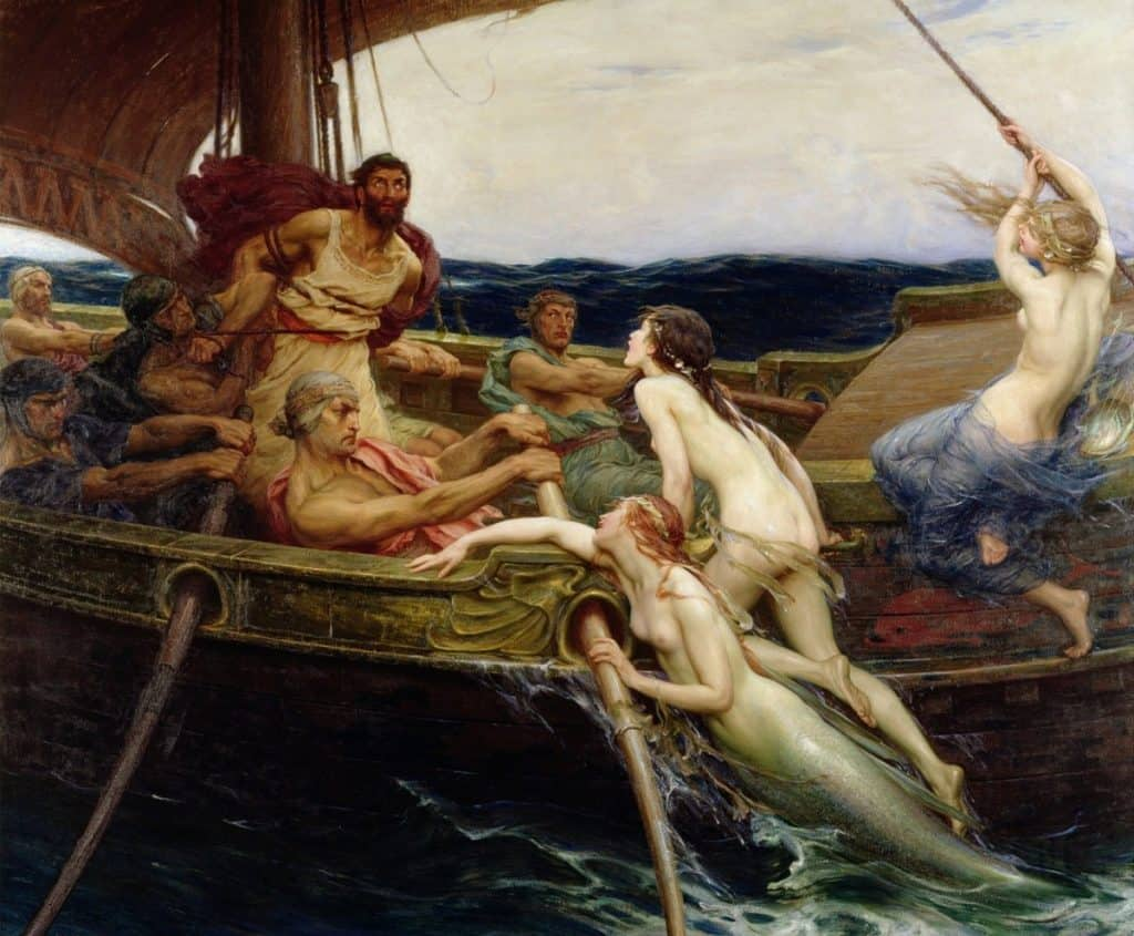 Ulysses and the Sirens by Herbert James Draper, circa 1909