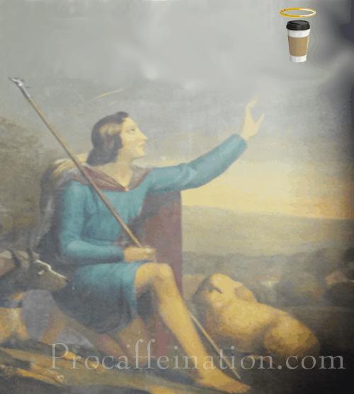 Saint Druon with coffee