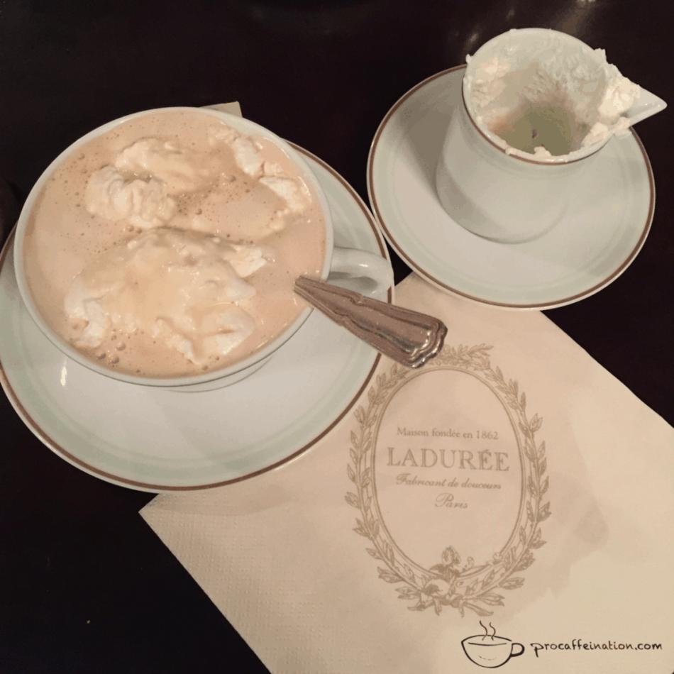 Vienna coffee from Laudurée